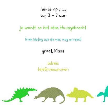 Dinosauriërs groen 3
