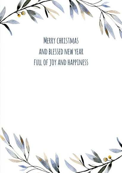 Donkerblauwe kerst- en nieuwjaarskaart Sparkle 3
