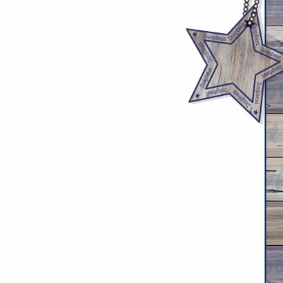 Doop stoer hout ster jongen 3