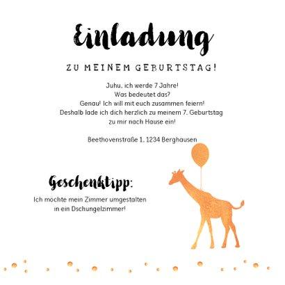 Dschungel-Einladung zum Kindergeburtstag 3