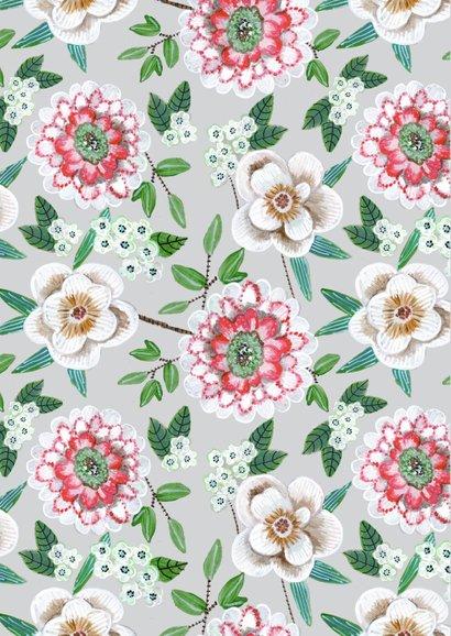 Een fris botanische menukaart met bloemen 2