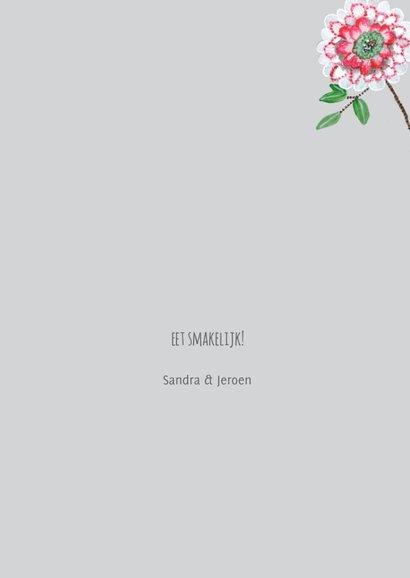 Een fris botanische menukaart met bloemen 3