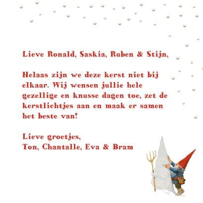 Een kersthuis vol lichtje en liefde kerstkaart 3