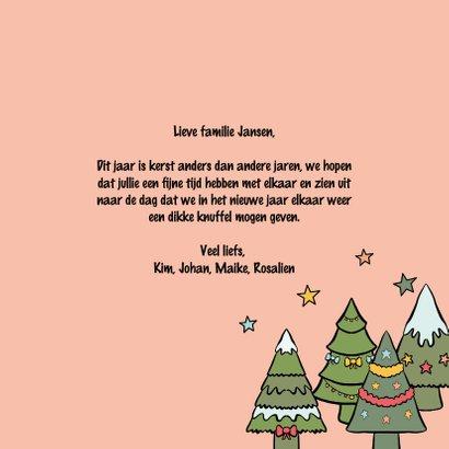 Een kerstkus door de brievenbus - kerstkaart 3