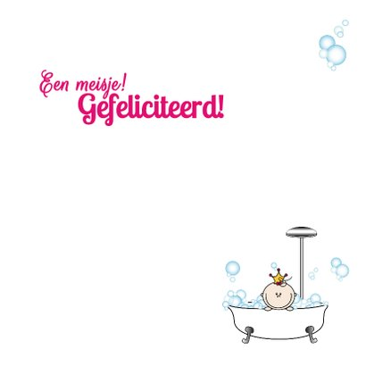 Een meisje PRINSESJE in bad 3