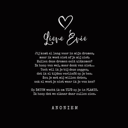 Een romantische anonieme valentijnskaart met rozen  3