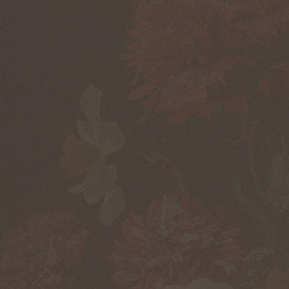 Een stijlvolle kerstkaart met vintage bloemenschilderij 2