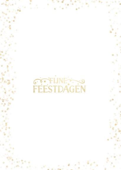 Eenvoudige feestelijke zakelijke kerstkaart met grote foto  Achterkant