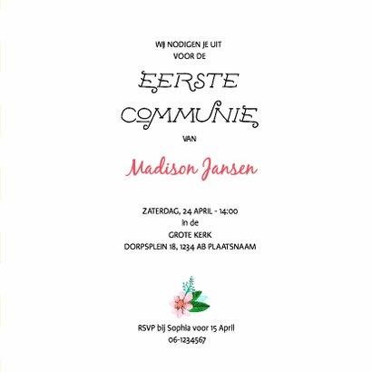 Eerste Communie Bloemen Krans 3