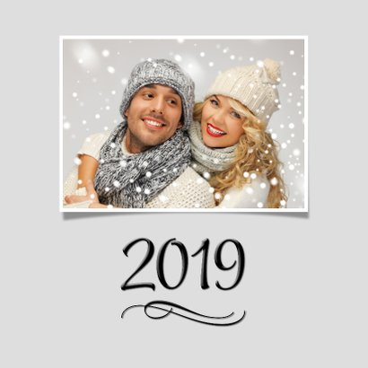 Eigen foto's Happy New Year 2019 zwart 2