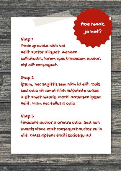 Eigen recepten kaart - DH 3