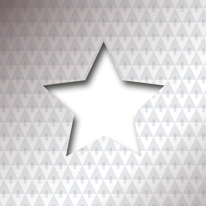 Eigen tekst of logo in ster vorm 2