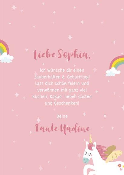 Einhorn-Glückwunschkarte zum Geburtstag 3