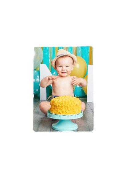 Einladung 1. Geburtstag Fotos & Cupcake blau 2