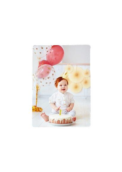 Einladung 1. Geburtstag Fotos & Cupcake rosa 2