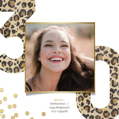 Einladung 30. Geburtstag Leopardenlook und Foto 2