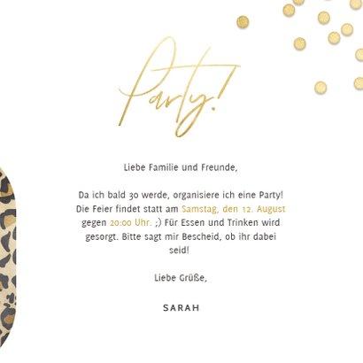 Einladung 30. Geburtstag Leopardenlook und Foto 3