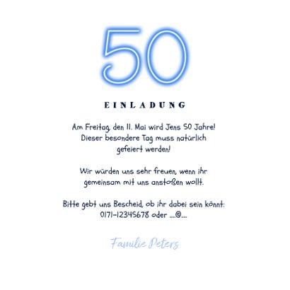 Einladung 50. Geburtstag Fotos an Kordel 3