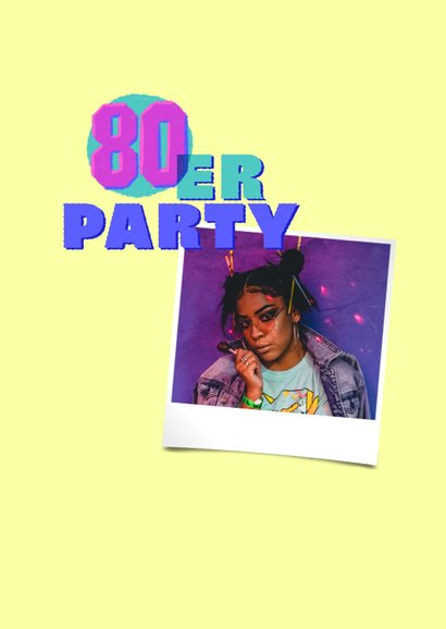 Einladung 80er-Jahre-Party mit Rollschuh 2