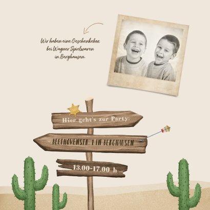 Einladung Cowboy & Indianer Kindergeburtstag 2