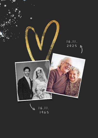 Einladung diamantene Hochzeit Fotos & Glitzer 2