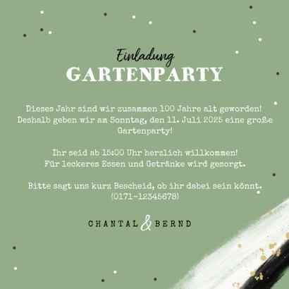 Einladung Doppelgeburtstag Gartenparty mit Foto 3