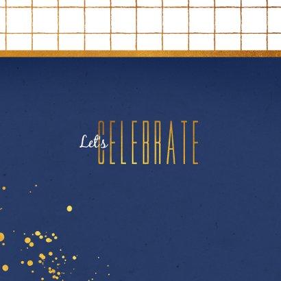 Einladung Einweihungsfest Foto dunkelblau 2