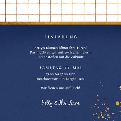 Einladung Einweihungsfest Foto dunkelblau 3
