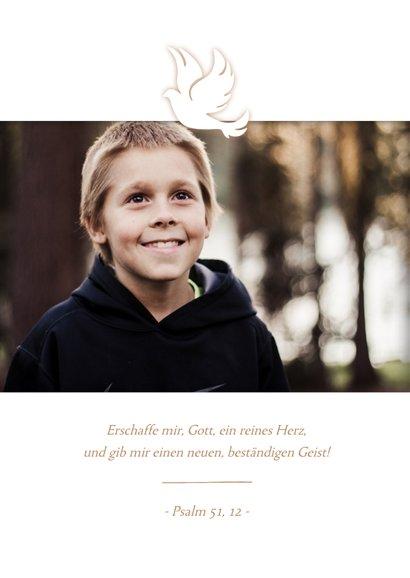 Einladung Fotokarte Kommunion Taube 2