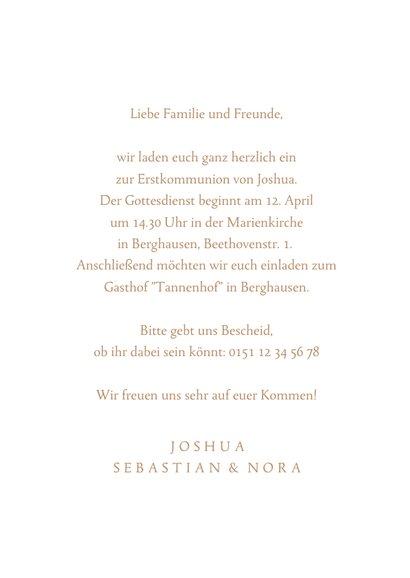Einladung Fotokarte Kommunion Taube 3
