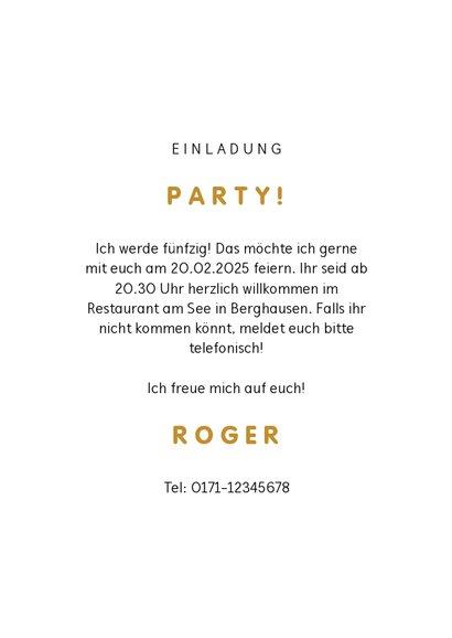 Einladung Geburtstag Fotocollage, Konfetti & Partyballons 3