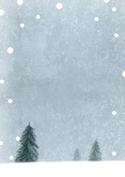 Einladung Geburtstag Winterparty Rückseite