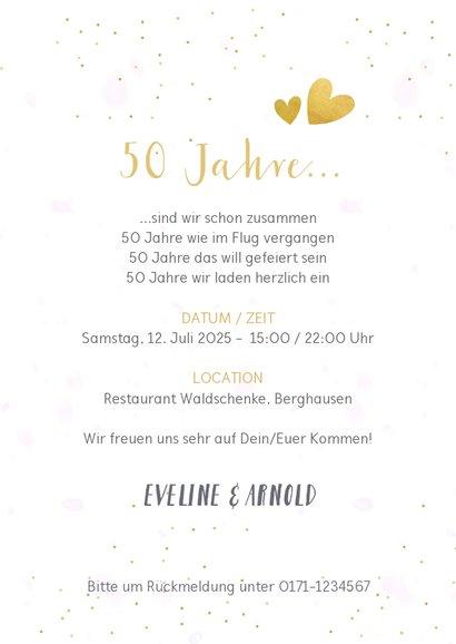 Einladung Goldene Hochzeit Fotocollage 3