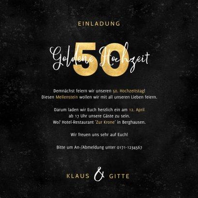 Einladung Goldene Hochzeit Gold-50 & Fotos 3