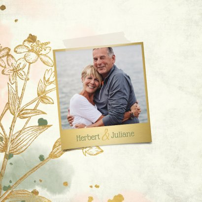 Einladung Goldene Hochzeit Retrolook Foto 2