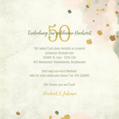 Einladung Goldene Hochzeit Retrolook Foto 3