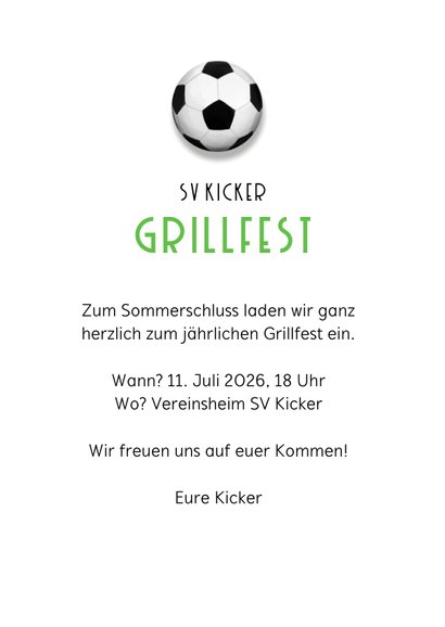 Einladung Grillfest Fußball 3