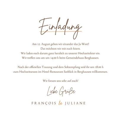 Einladung Hochzeit feine Zweige 3