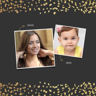 Einladung Jugendweihe Goldkonfetti Foto 2