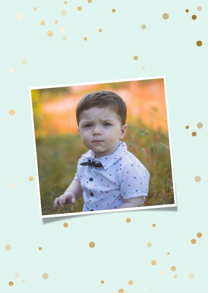 Einladung Kindergeburtstag 12 Monate Polaroid Fotocollage 2
