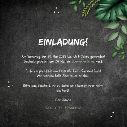 Einladung Kindergeburtstag Dschungelparty 3