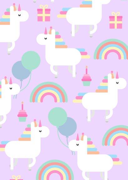 Einladung Kindergeburtstag Einhorn und Regenbogen 2