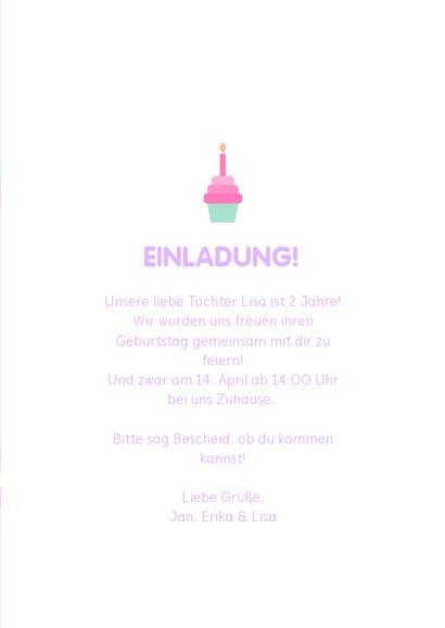 Einladung Kindergeburtstag Einhorn und Regenbogen 3