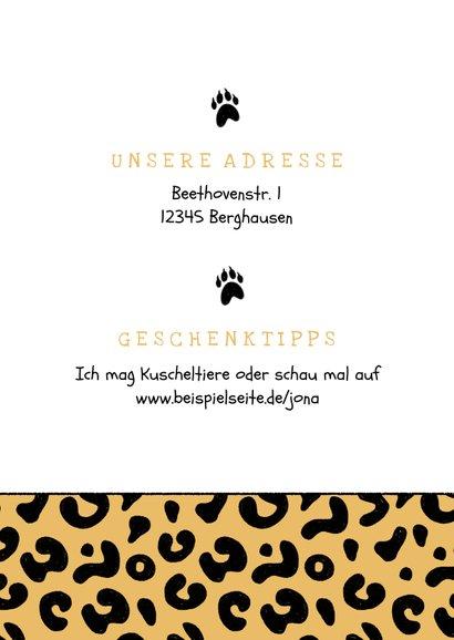 Einladung Kindergeburtstag Foto & Pantherprint 2