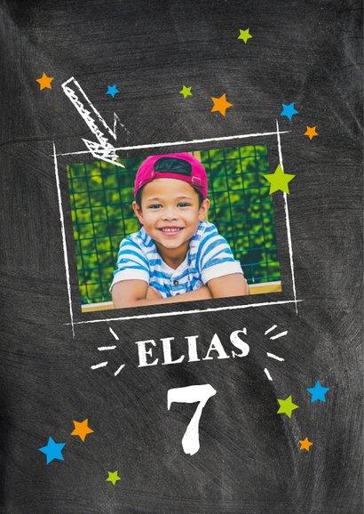 Einladung Kindergeburtstag Kreidetafel mit Foto 2