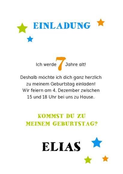 Einladung Kindergeburtstag Kreidetafel mit Foto 3
