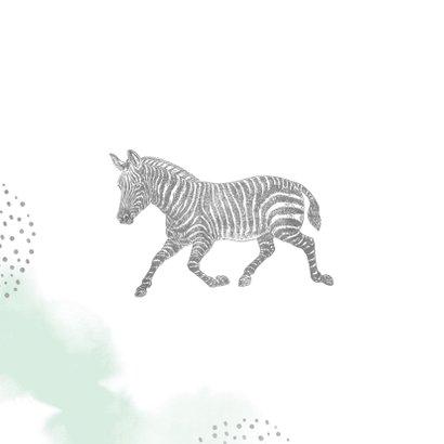Einladung Kindergeburtstag mit Foto, Zebra und Krone 2