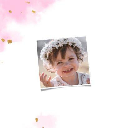 Einladung Kindergeburtstag mit goldenem Schmetterling 2