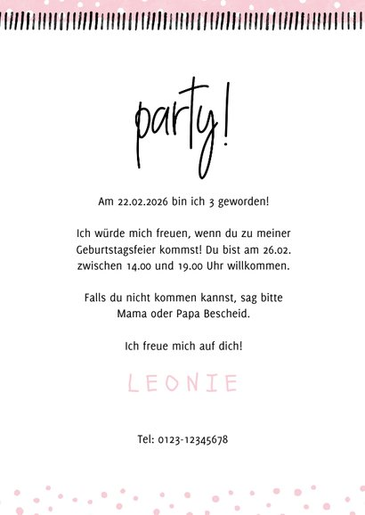 Einladung Kindergeburtstag 'Party!' eigenes Foto 3