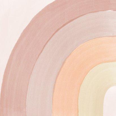 Einladung Kindergeburtstag Pastell Regenbogen & Foto Rückseite